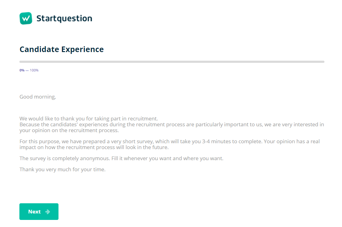 Introduction To The Survey Guide Startquestion
